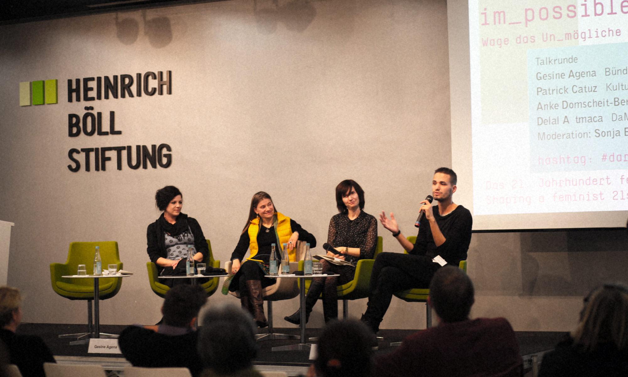 Patrick Catuz, Heinrich Böll Stiftung, Gunda Werner Institut, Dare the Impossible